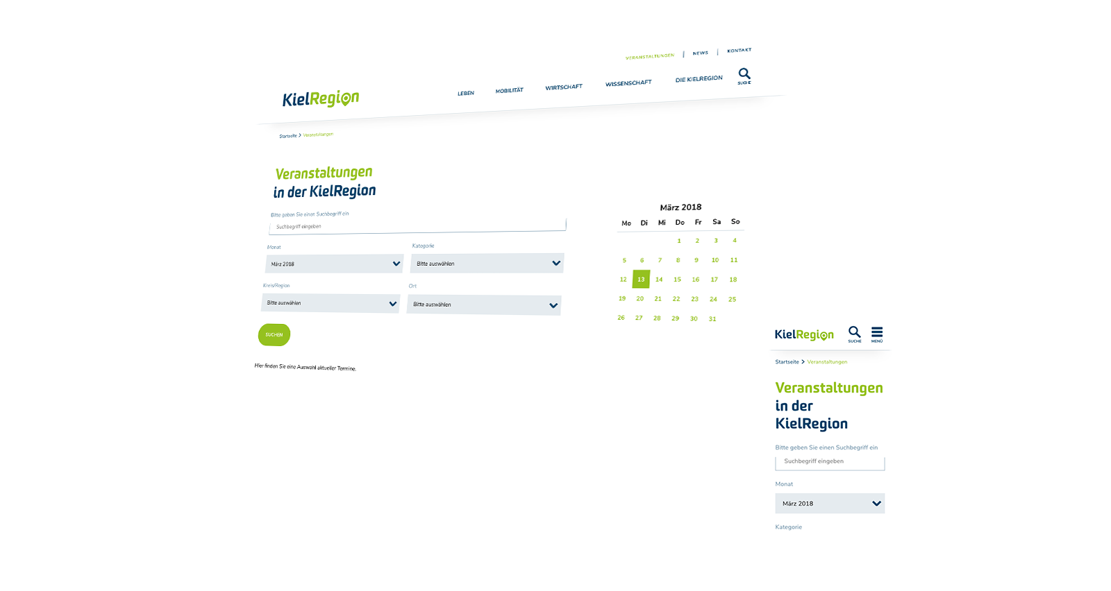 Skizze Kielregion Website