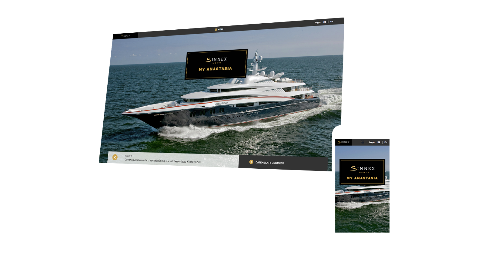 Sinnex Website Desktop und mobil